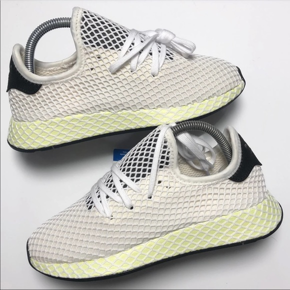 separation shoes 43b96 92010 Men's Adidas Deerupt Red/Lime